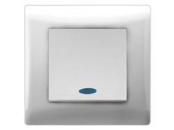 Переключатель/выкл. проходной 1-кл. c инд.